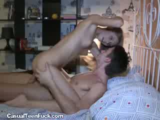 Brunette Rides Fat Cock After Date