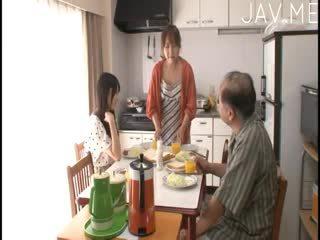 japanse, pijpbeurt, kijken kindje beste