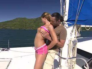 Hot East European model nailed on yacht
