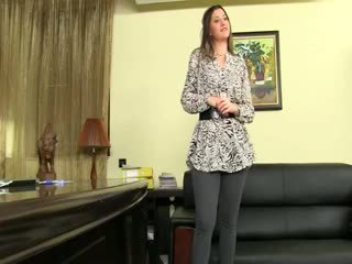 Fake Agent Having Sex On Leather Sofa