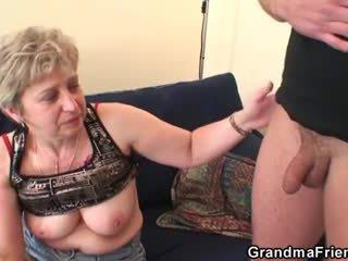 جدة takes two cocks بعد masturbation