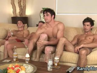 Super Sexy Chaps In Homo Foursome Scene
