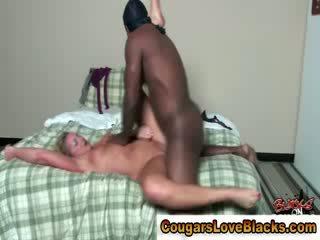 Sexy mature bitch gets a double spunk shot