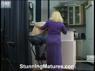 Rosemary y oscar fetichista envejecida acción