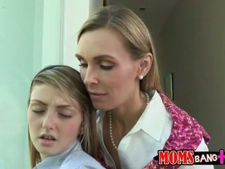 Mature Tanya seduces hot teen girl Staci