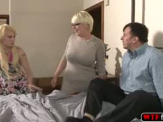 blowjob, ass, threesome, blonde