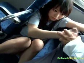 brunette scène, controleren student actie, jong film