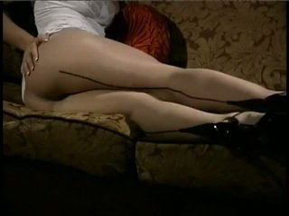 Girl in tan pantyhose