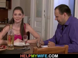 Gorda marido pays o pizza guy tot caralho sua esposa