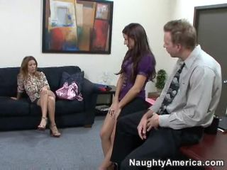 you brunette clip, any lick channel, office sex fuck