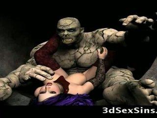 Scary ogres bang ३डी लड़कियों!