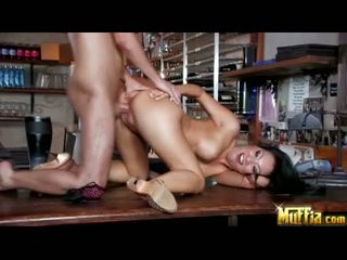 Darksome haired oriental fuck wings asa akira acquires jizzed on her warm mouth