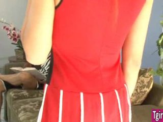 TS cheerleader Venus Lux seduces referee