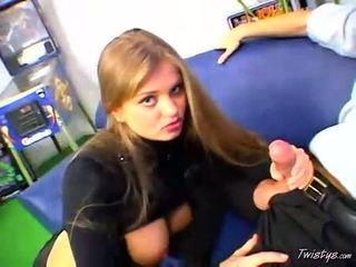 Breasty Hot Babe Rita Faltoyano Swallowing A Massive Hard Meat