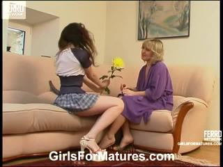 Virginia And Juliet Lezzy Mom Onto Video