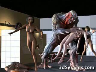 Aliens bang 3d tüdrukud!
