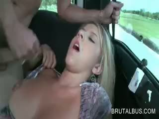 Hot Blonde Amateur Gets Messy Facial After Wild Bus Sex