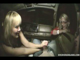 Drunk Mom And Teen Public Handjob In Car