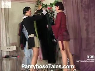 Pantyhose tales cảnh với kathleen, rosa, govard
