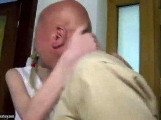 Teen cutie fucks grandpa
