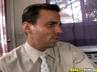redhead seks, office sex, grote pik porno