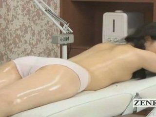 Subtitled jepang pelajar putri pertama sensual minyak pijat