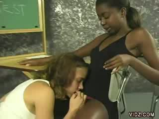 Naughty classmates do some nasty make out