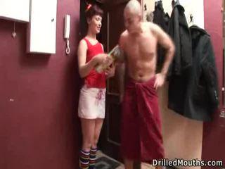brunette porno, vol tiener sex scène, kwaliteit jong vid
