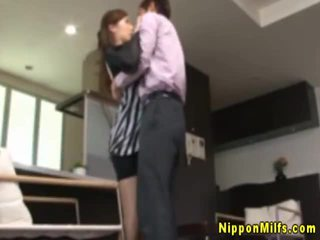 Japanese asian mature gets horny