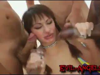 dubbele penetratie kanaal, controleren monster cock scène, u gang bang