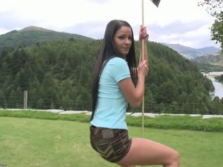 Flawless ciało na the golf kurs.