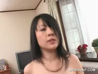 Stunning asian sex doll pussy nailed hardcore on the couch