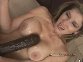 Huge dildo machine fucking
