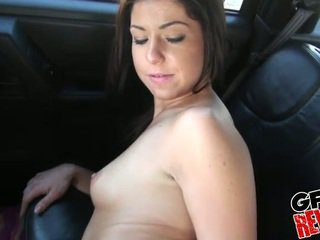 Young couple fucking in a car