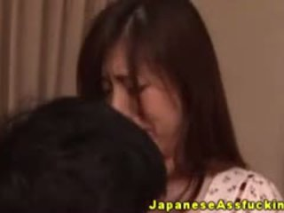 Japanese Mature Enjoying Anal Ride