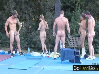 nhóm quan hệ tình dục, chất lượng bộ ngực to, doggystyle vui vẻ