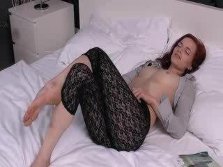 solo girl, gapende video-, mooi gat film
