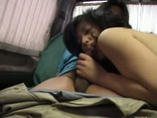 Hairy korean girl having holes toyed