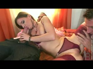 Soaked Brunette Evelyn Foxy Stuffs Her Constricted Face Hole With A Hard Massive Cock