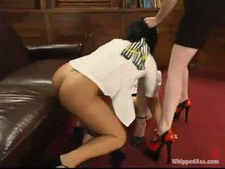 kwaliteit caning neuken, online over de knie spanking video-, meer whipping film