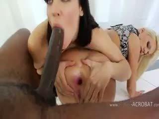 Ekstreme anale modele dhe brutale e zezë cok