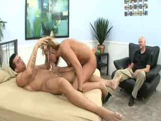 Watched By Her Husband, Val Malone Acquires Her Pink Pussy Drilled