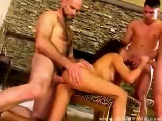 Olivia del rio banged por três dudes