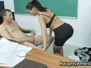 Dirty Teacher Angel Dark Lust So Much Of Her Student's Cock In Her Mouth