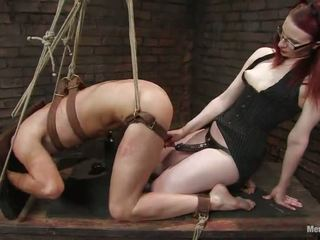 Claire Adams Scarlet Head Vixen Having Funtime Nearly Dude In Bound Pegging Lady Domination