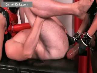 een speelgoed, anaal seks, femdom