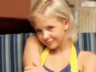 Petite 18yo Blondie Fingering Herself
