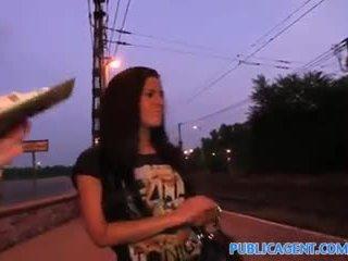 PublicAgent Mindblowing blowjob and intercourse under a public bridge