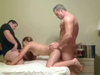 Amateur Threesome Blonde With Two Friends Video