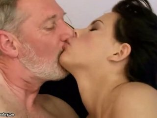Old guy fucks sexy young beauty